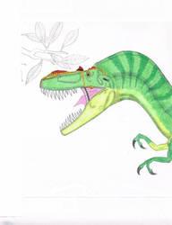 Albertosaurus Arctunguis. Coloring from larger by Artwalker-67