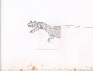Ceratosaurus. In progress. scan .01 by Artwalker-67