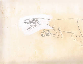 Herrarasaurus. Unfinished. 1993-present. by Artwalker-67