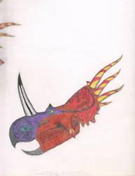 Inaccurate Styracosaurus profile. 2000 by Artwalker-67