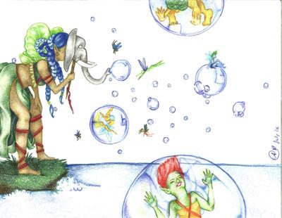 The Bubble Pond by Farfalla-Dea