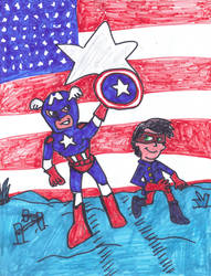 Captain America and Bucky by SonicClone