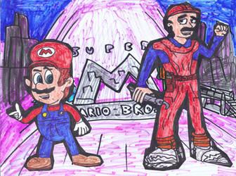 Mario and Mario Mario by SonicClone
