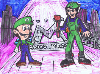 Luigi and Luigi Mario by SonicClone