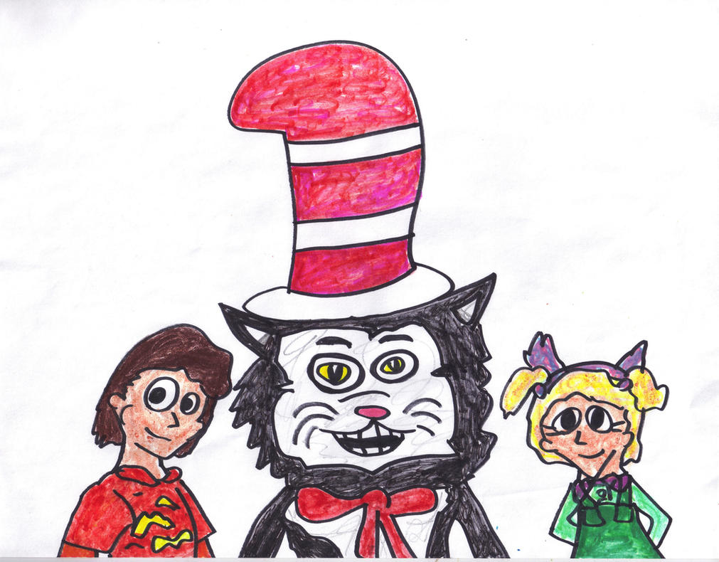 The Cat, Conrad, and Sally by SonicClone on DeviantArt