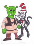 Shrek and the Cat in the Hat