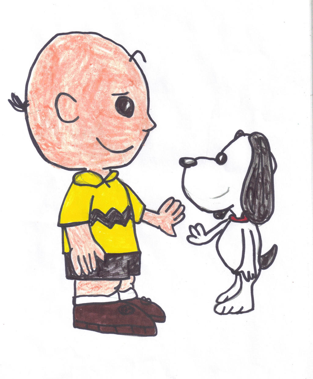Charlie Brown and Snoopy by SonicClone on DeviantArt