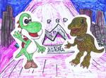 Yoshi and Yoshi by SonicClone