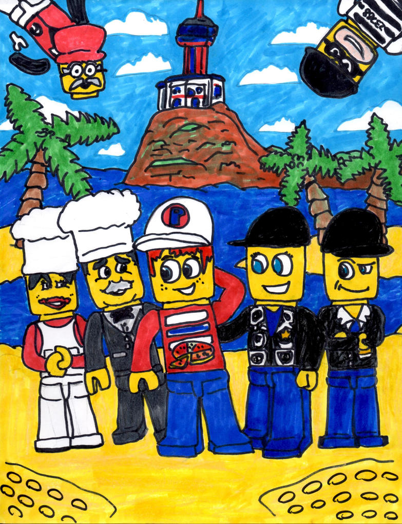 The Gang of Lego Island by SonicClone