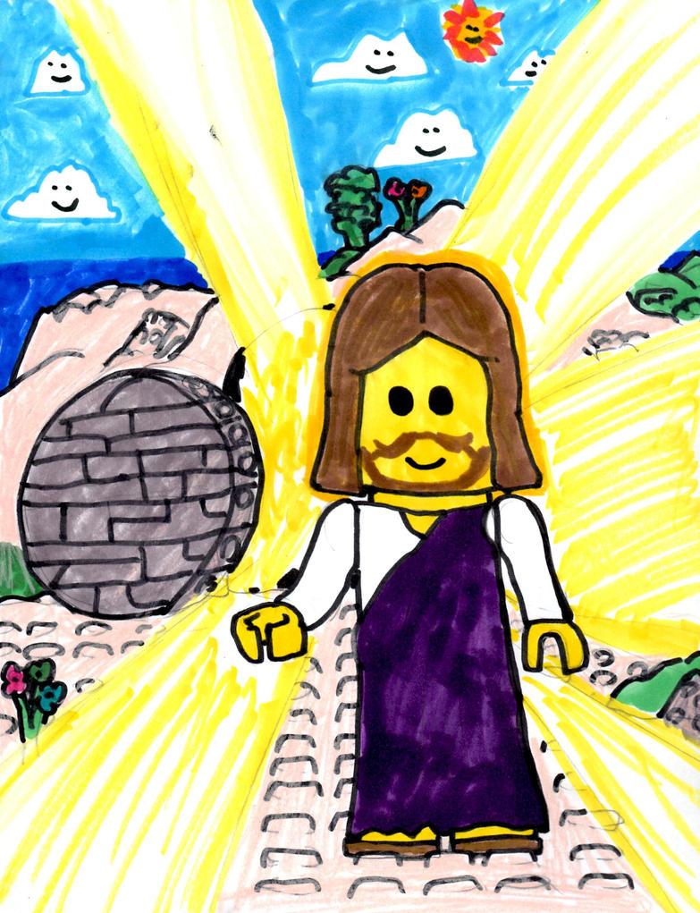 LEGO Jesus Has Risen by SonicClone