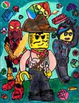 Lego Trio: Big Three of Lego by SonicClone