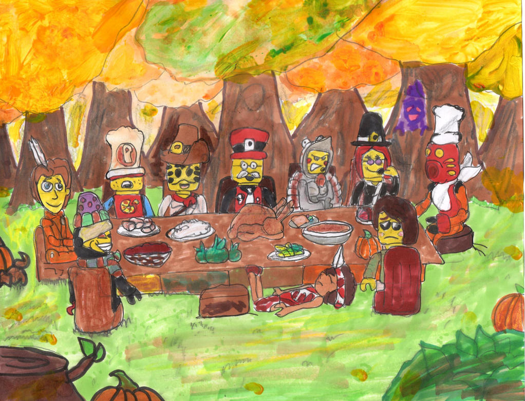 A Lego Thanksgiving by SonicClone