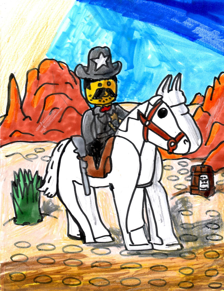A Sheriff and His Steed by SonicClone