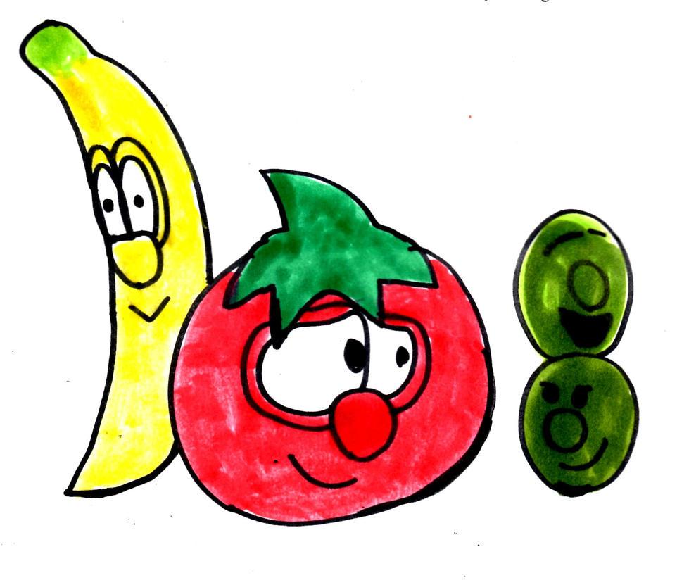 Bob, Peas, and Banana by SonicClone