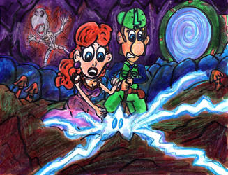 Luigi and Daisy Unmerge the Worlds by SonicClone