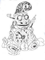 Psychescary Clock by SonicClone