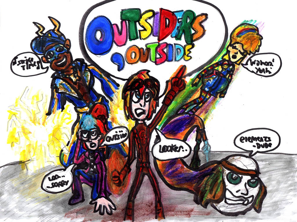 Outsiders, Outside by SonicClone