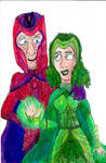 Magneto and Polaris by SonicClone