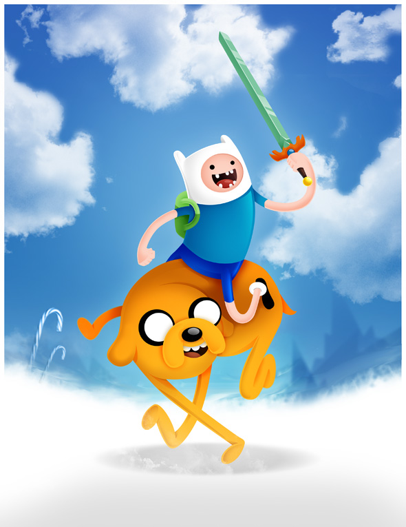 Finn and Jake (Adventure time) by Adnilustra