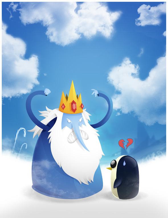Ice King And Gunter Adventure Time By Adnilustra