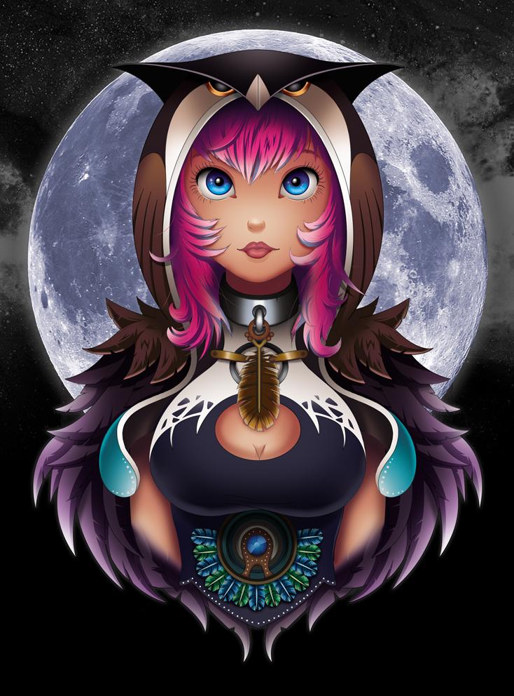 Owl Girl by Adnilustra