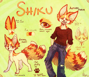 Shiku Reference sheet 2015 by Velyra