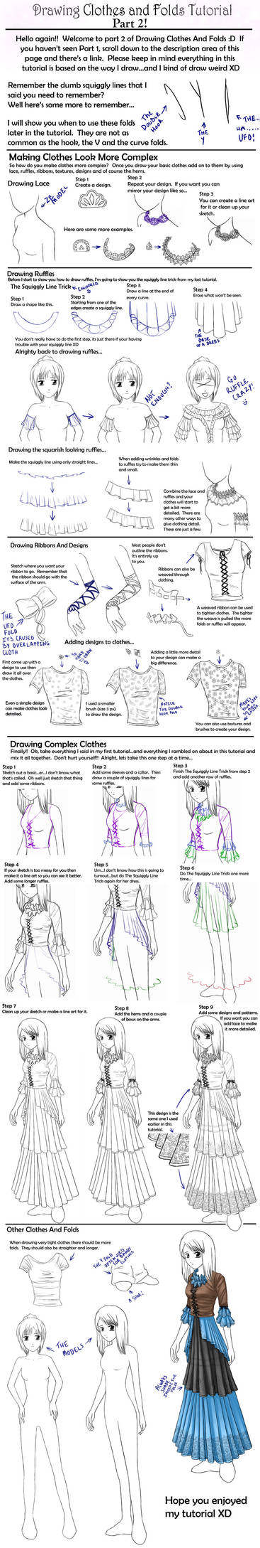 Drawing Clothes And Folds Two