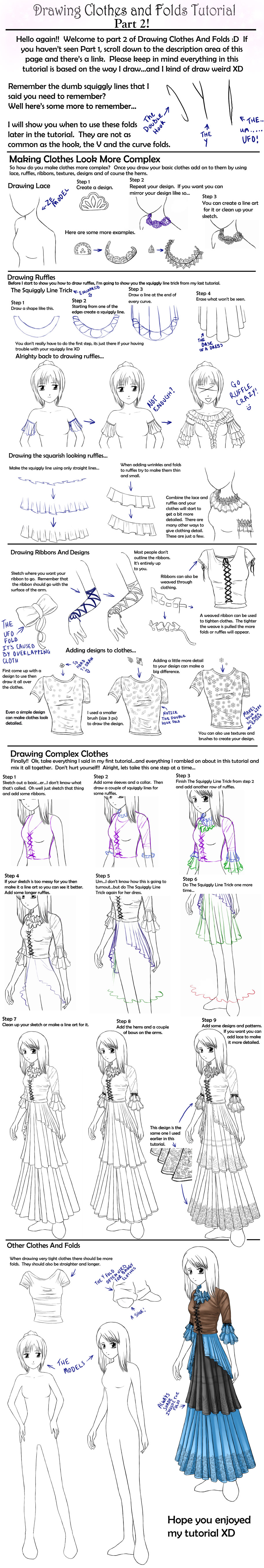 It is a picture of Remarkable Drawing Clothes Tutorial