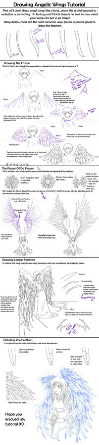 Drawing Angelic Wings Tutorial