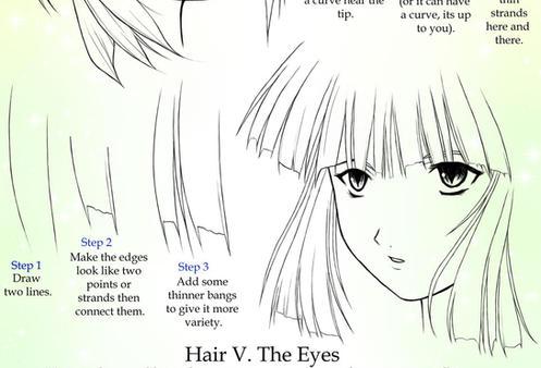 Drawing Anime Hair: Bangs by Crysa