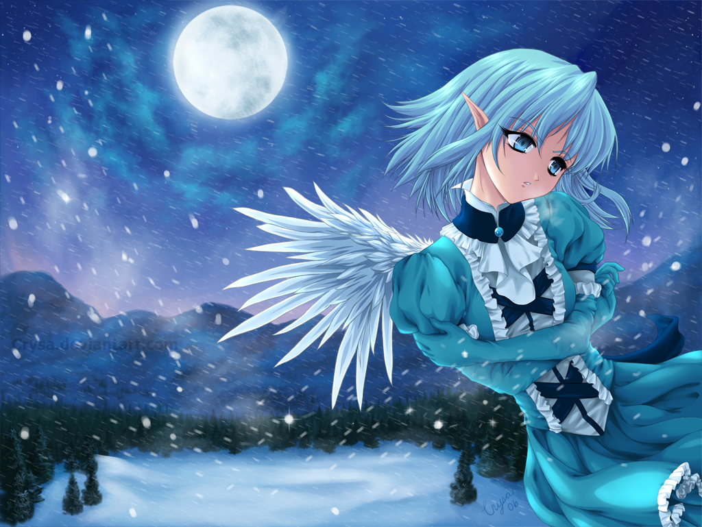 60 hd anime wallpapers for your desktop page 2 - Winter anime girl wallpaper ...