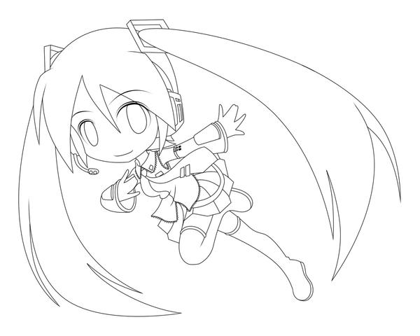 hatsune miku chibi coloring pages - photo#26
