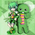 Ryuto Gachapoid and Gachapin
