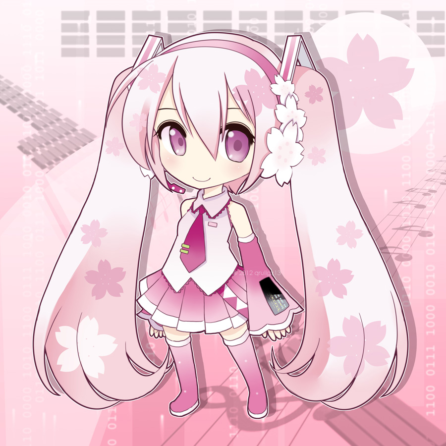 Chibi Sakura Miku by qrullgx13