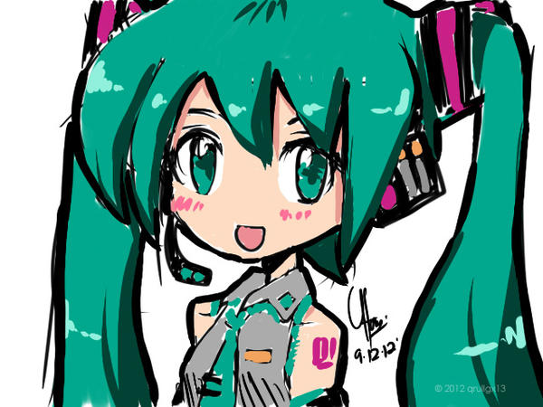 Speedpaint Miku by qrullgx13
