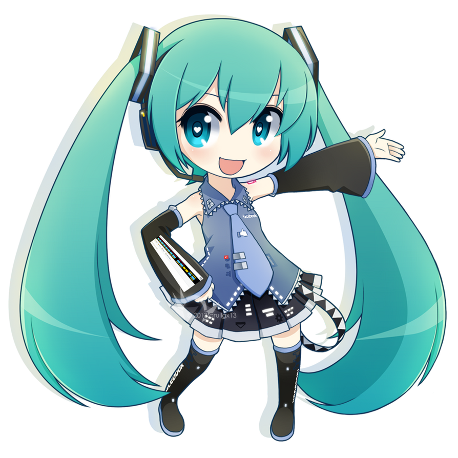 Chibi Facebook Miku By Qrullgx13