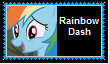 Rainbow Dash Stamp (Updated) by KittyJewelpet78