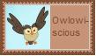 Owlowiscious Stamp by SoraJayhawk77