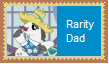 Rarity Dad Stamp by SoraRoyals77
