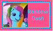 G3 Rainbow Dash Stamp