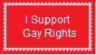 Support Gays Rights Stamp