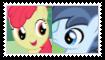 (Request) Shady DazeXApplebloom Stamp by SoraJayhawk77