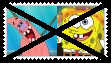 (Request) Anti SpongebobxPatrick Stamp by KittyJewelpet78