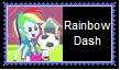 Rainbow Dash Human Stamp by SoraRoyals77