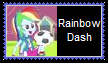 Rainbow Dash Human Stamp by KittyJewelpet78