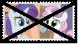 Anti RarityXSweetie Belle Stamp by KittyJewelpet78