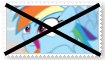 (Request) Anti Rainbow Dash Stamp by SoraRoyals77