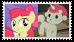 ApplebloomXUnico Stamp by KittyJewelpet78
