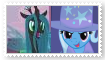 Queen ChrysalisXTrixie Stamp by SoraJayhawk77