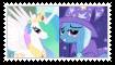 CelestiaXTrixie Stamp by SoraJayhawk77